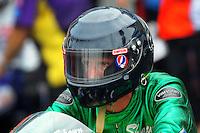 April 30, 2011; Baytown, TX, USA: NHRA pro stock motorcycle rider .Shawn Gann during the Spring Nationals at Royal Purple Raceway. Mandatory Credit: Mark J. Rebilas-