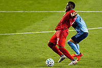 HARRISON, NJ - SEPTEMBER 23: HARRISON, NJ - Wednesday, September 23, 2020: Jozy Altidore during a game between New York City FC and Toronto FC on September 23, 2020 at Red Bull Arena in Harrison, New Jersey during a game between Toronto FC and New York City FC at Red Bull Arena on September 23, 2020 in Harrison, New Jersey.