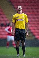 Dan Osborne shows his frustration during the Sellebrity Soccer - Celebrity & legends football match with profits going to Watford Community sports & education trust at Vicarage Road, Watford, England on 12 May 2018. Photo by Andy Rowland.