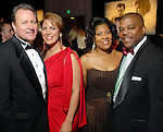 """From left: John and Frances Dyess and Diedra and Terrence Fontaine at the San Luis Salute to """"The Italian Riviera"""" at the Galveston Island Convention Center at the San Luis Friday  Feb. 20, 2009.(Dave Rossman/For the Chronicle)"""