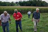 """Kelley, Iowa<br /> August 28, 2014<br /> <br /> Since the 1970's Don Huber, an Emeritus Professor of Plant Pathology at Perdue University, has been studying the environmental and human effects of """"glyphosate"""", the primary broad-spectrum systemic herbicide used to kill weeds on more than 80% of American farms. He discusses with Iowa corn and soy farmers the short and long term harmful effects of the pesticides, herbicides and fungicides they use and they listen intensely.<br /> <br /> He is accompanied by Iowan Bob Streit who graduated with degrees in Plant Pathology, Pest Management, and Agronomy."""