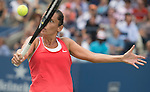 Roberta Vinci (ITA) defeats Serena Williams (USA) 2-6, 6-4, 6-4 at the US Open in Flushing, NY on September 11, 2015.
