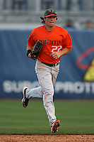 March 2, 2010:  Outfielder Chris Pelaez of the Miami Hurricanes during a game at Legends Field in Tampa, FL.  Photo By Mike Janes/Four Seam Images