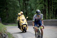 Guillaume Martin (FRA/Wanty-Groupe Gobert) with a late breakaway from the peloton on the final climb of the day<br /> <br /> Stage 6: Saint-Vulbas to Saint-Michel-de-Maurienne (228km)<br /> 71st Critérium du Dauphiné 2019 (2.UWT)<br /> <br /> ©kramon