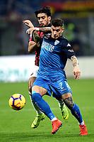 Giovanni Di Lorenzo of Empoli , Lucas Paqueta of AC Milan <br /> Milano 22-02-2019 Stadio Giuseppe Meazza in an Siro Football Serie A 2018/2019 AC Milan - Empoli <br /> Foto Image Sport / Insidefoto