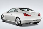 Rear three quarter view of 2008 Infiniti G37S Coupe Stock Photo