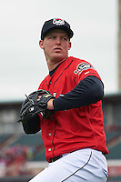 Erie Seawolves pitcher Austin Kubitza (24) poses for a photo before a game against the Richmond Flying Squirrels on May 20, 2015 at Jerry Uht Park in Erie, Pennsylvania.  Erie defeated Richmond 5-2.  (Mike Janes/Four Seam Images)