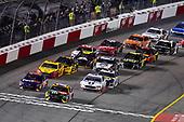 #11: Denny Hamlin, Joe Gibbs Racing, Toyota Camry FedEx Ground and #18: Kyle Busch, Joe Gibbs Racing, Toyota Camry M&M's Flavor Vote