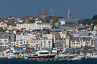 Royaume-Uni, îles Anglo-Normandes, île de Guernesey, Saint Peter Port  // United Kingdom, Channel Islands, Guernsey island, Saint Peter Port