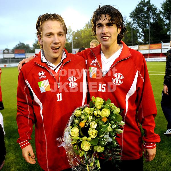 voetbal arc - be quick play off topklasse seizoen 2009-2010 19-06-2010 michel henkes en fabian uiterwijk