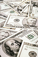 New United States Currency. money, dollars, dollar bills - $50, $20, business, finances, commerce, trade.