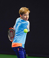 Hilversum, Netherlands, December 3, 2017, Winter Youth Circuit Masters, 12,14,and 16 years, Pieter de Lange (NED)<br /> Photo: Tennisimages/Henk Koster