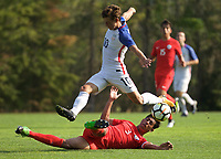 Portland, OR - Wednesday August 09, 2017: George Acosta during friendly match between the USMNT U17's and Chile u17's at Nike World Headquarters in Portland, OR.