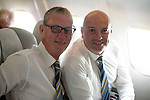 Rosenborg v St Johnstone....17.07.13  UEFA Europa League Qualifier.<br /> Directors Stan Harris and Charlie Fraser pictured on the flight over to Trondheim<br /> Picture by Graeme Hart.<br /> Copyright Perthshire Picture Agency<br /> Tel: 01738 623350  Mobile: 07990 594431