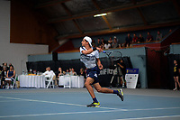 Men's singles final between Finn Tearney and Ajeet Rai (pictured). 2019 Wellington Tennis Open finals at Renouf Centre in Wellington, New Zealand on Sunday, 22 December 2019. Photo: Dave Lintott / lintottphoto.co.nz