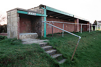 Covered area at Tunley Athletic FC Football Ground, Tunley Recreation Ground, Tunley, Somerset, pictured on 27th March 1997