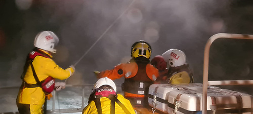 Castletownbere RNLI with Coastguard Helicopter crew on board