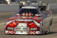 Nov 1, 2007; Pomona, CA, USA; NHRA funny car driver Mike Ashley during qualifying for the Auto Club Finals at Auto Club Raceway at Pomona. Mandatory Credit: Mark J. Rebilas-US PRESSWIRE