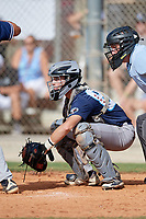 Bryan Broecker (86) during the WWBA World Championship at the Roger Dean Complex on October 10, 2019 in Jupiter, Florida.  Bryan Broecker attends Notre Dame College Prep High School in Chicago, IL and is committed to Michigan State.  (Mike Janes/Four Seam Images)