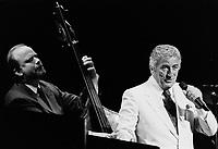 Tony Bennetm au festival de Jazz de Montreal<br /> (date exacte inconnue)<br /> <br /> PHOTO : Agence Quebec Presse -