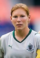 Lori Chalupny. The Washington Freedom defeated the Saint Louis Athletica, 3-1.