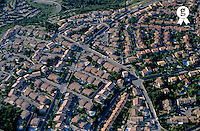 Housing development in Provence, aerial view (Licence this image exclusively with Getty: http://www.gettyimages.com/detail/85071222 )