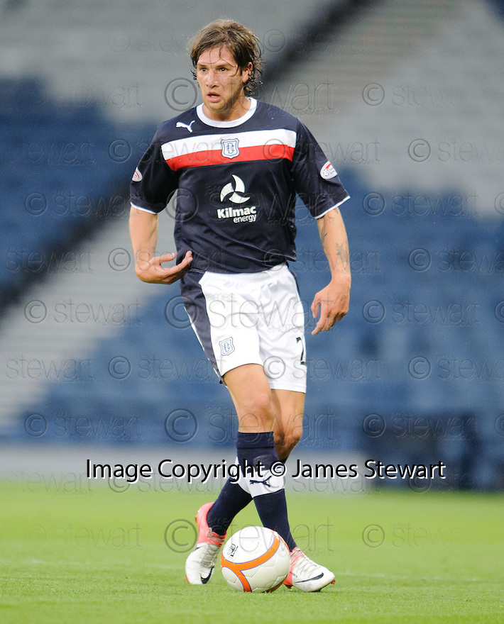 Davide Grassi : Dundee FC ........29/08/2012   Copyright  Pic : James Stewart.jsp039_qp_v_dundee   .James Stewart Photography 19 Carronlea Drive, Falkirk. FK2 8DN      Vat Reg No. 607 6932 25.Telephone      : +44 (0)1324 570291 .Mobile              : +44 (0)7721 416997.E-mail  :  jim@jspa.co.uk.If you require further information then contact Jim Stewart on any of the numbers above........