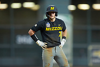 Jackson Lancaster (7) of the Missouri Tigers stands on third base during the game against the Texas Longhorns in game eight of the 2020 Shriners Hospitals for Children College Classic at Minute Maid Park on March 1, 2020 in Houston, Texas. The Tigers defeated the Longhorns 9-8. (Brian Westerholt/Four Seam Images)
