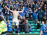 St Johnstone v Dundee United....17.05.14   William Hill Scottish Cup Final<br /> Steven MacLean celebrates his goal with the saints fans<br /> Picture by Graeme Hart.<br /> Copyright Perthshire Picture Agency<br /> Tel: 01738 623350  Mobile: 07990 594431