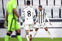 3rd January 2021, Allianz Stadium, Turin Piedmont, Italy; Serie A Football, Juventus versus Udinese;  Goal celebration from Cristiano Ronaldo