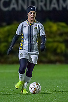 Charleroi midfielder Yasaman Farmani (6) pictured during a female soccer game between Sporting Charleroi and KRC Genk Ladies on the 9th matchday of the 2020 - 2021 season of Belgian Scooore Womens Super League , friday 11 th of December 2020  in Marcinelle , Belgium . PHOTO SPORTPIX.BE | SPP | STIJN AUDOOREN