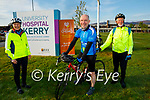 Ready to take to the road for their Comfort for Chemo fundraiser as they start at the UHK on Saturday morning. L to r: Linda Woods, Fergal Grimes and Tony O'Callaghan,  s.