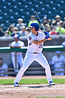 Tennessee Smokies third baseman Jason Vosler (22) awaits a pitch during a game against the Jackson Generals at Smokies Stadium on April 11, 2018 in Kodak, Tennessee. The Generals defeated the Smokies 6-4. (Tony Farlow/Four Seam Images)
