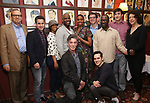 Barry Grove, Lynne Meadow and the cast of 'Saint Joan' with Condola Rashad during the Sardi's portrait unveiling for Condola Rashad at Sardi's Restaurant on May 10, 2018 in New York City.