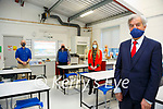 St. Joseph New Extension: John O'Donovan, Principle, St. Joseph's Secondary School, Ballybunion pictured in the Science Room with Gavin Daly, Jeremiah O'Brien and Michelle Costello.