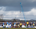 The Methil crane appears to be positioning above the injured players to pluck them from the park