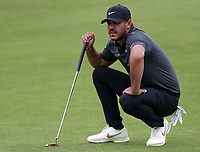 15th July 2021; Royal St Georges Golf Club, Sandwich, Kent, England; The Open Championship, PGA Tour, European Tour Golf, First Round ; Brooks Koepka (USA) prepares to putt on the 16th hole