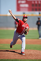 Cincinnati Reds pitcher Patrick Riehl (41) during an Instructional League game against the Chicago White Sox on October 11, 2016 at the Cincinnati Reds Player Development Complex in Goodyear, Arizona.  (Mike Janes/Four Seam Images)