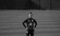 COMMERCE CITY, CO - OCTOBER 25: Ali Krieger of the USWNT listens to her coaches at Dick's Sporting Goods training fields on October 25, 2020 in Commerce City, Colorado.