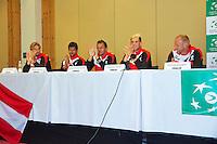 Austria, Kitzbuhel, Juli 16, 2015, Tennis, Davis Cup, Draw, Austrian team<br /> Photo: Tennisimages/Henk Koster