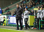 Hibs v St Johnstone.....11.02.13      SPL.Steve Lomas encourages his players.Picture by Graeme Hart..Copyright Perthshire Picture Agency.Tel: 01738 623350  Mobile: 07990 594431