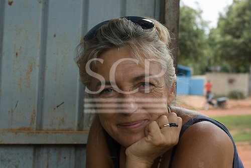 Mato Grosso State, Brazil. Sue Cunningham in the radio house , Funai.