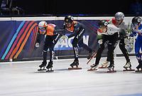 SPEEDSKATING: DORDRECHT: 07-03-2021, ISU World Short Track Speedskating Championships, Daan Breeuwsma en Sjinkie Knegt (NED), ©photo Martin de Jong