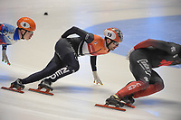 SPEEDSKATING: DORDRECHT: 06-03-2021, ISU World Short Track Speedskating Championships, Final A 1500m Men, Itzhak de Laat (NED), Semen Elistratov (RSU), ©photo Martin de Jong