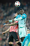 Athletic de Bilbao's Raul Garcia (l) and FC Barcelona's Samuel Umtiti during Spanish Kings Cup match. January 05,2017. (ALTERPHOTOS/Acero)