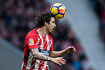 Sime Vrsaljko of Atletico de Madrid in action during the La Liga 2017-18 match between Atletico de Madrid and Girona FC at Wanda Metropolitano on 20 January 2018 in Madrid, Spain. Photo by Diego Gonzalez / Power Sport Images