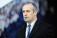 Philippe Saint-Andre, France Head Coach, looks on during the match