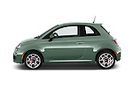 Car Driver side profile view of a 2015 Fiat 500 Sport Door Hatchback Side View