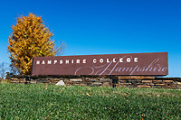 Hampshire College campus in autumn.