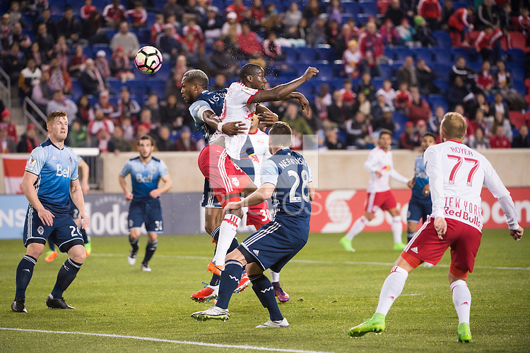 HARRISON, New Jersey - Wednesday, February 22, 2017: The New York Red Bulls take on the Vancouver Whitecaps at home at Red Bull Arena in game 1 of the quarter-final of the Concacaf Champions League.